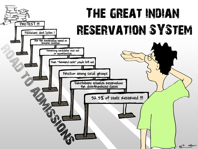 Reservation In india : Offiicial Way To Slap Student