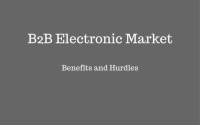Benefits and Hurdles of Electronic B2B Market In India.
